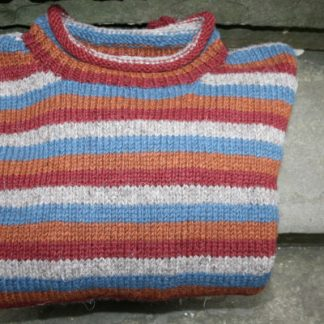 Fair Trade Jumper Terracotta Stripe