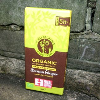 Equal Exchange Fair Trade dark chocolate with lemon and ginger