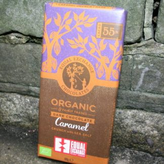 Equal Exchange Fair Trade dark chocolate with caramel and sea salt