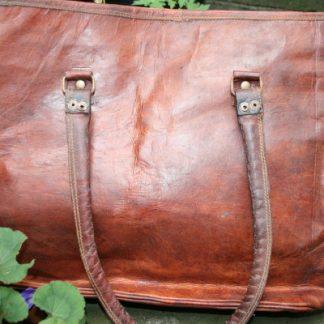 Fair Trade Leather Shopper