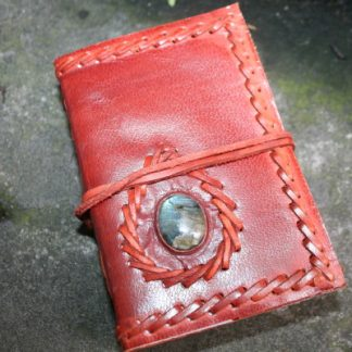 leather journal & stone